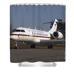 A Bombardier Global 5000 Vip Jet Shower Curtain by Timm Ziegenthaler