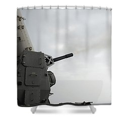 A Close-in Weapons System Is Fired Shower Curtain by Stocktrek Images