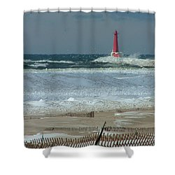 A Day In Time Shower Curtain