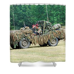 A Recce Unit Of The Belgian Army Shower Curtain by Luc De Jaeger