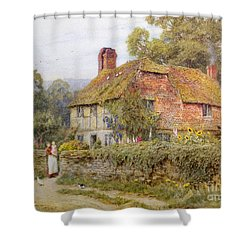 A Surrey Cottage Shower Curtain by Helen Allingham