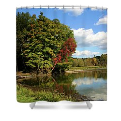 A Touch Of Autumn Shower Curtain by Kristin Elmquist
