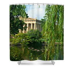 A View Of The Parthenon 17 Shower Curtain by Douglas Barnett