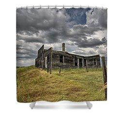 Abandoned Farmhouse Saskatchewan Canada Shower Curtain by Mark Duffy