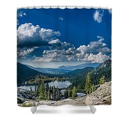 Above Castle Lake Shower Curtain