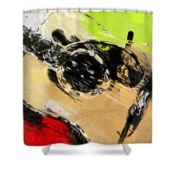Abstract Acoustic Shower Curtain by David G Paul