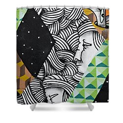 Abstract Colorful Graffiti Shower Curtain