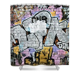 Shower Curtain featuring the painting Abstract Graffiti  by Yurix Sardinelly