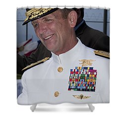 Admiral Eric T. Olson Speaks Shower Curtain by Michael Wood