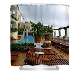 After The Rain. Positano  2 Shower Curtain