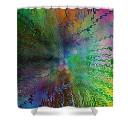 After The Rain  Shower Curtain by Tim Allen