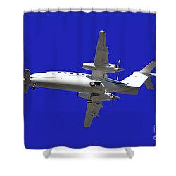 Airplane Shower Curtain by Mats Silvan