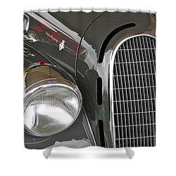 Shower Curtain featuring the photograph Alfa Romeo by Anna Ruzsan