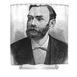 Alfred Nobel, Swedish Chemist Shower Curtain by Science Source