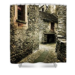 Alley Shower Curtain by Joana Kruse