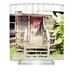 Alligator Bayou Bar Shower Curtain by Scott Pellegrin
