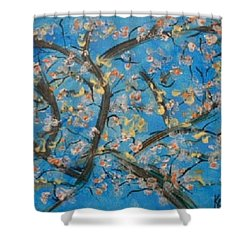 Almond Blossom  Shower Curtain by Kelly Turner