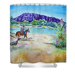 Texas - Along The Rio-grande Shower Curtain