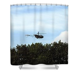 Alouette II Of The Belgian Army Shower Curtain by Luc De Jaeger