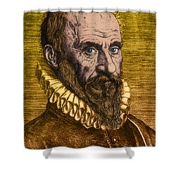 Ambroise Par�, French Surgeon Shower Curtain by Science Source