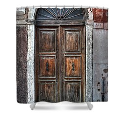 an old wooden door in Italy Shower Curtain by Joana Kruse