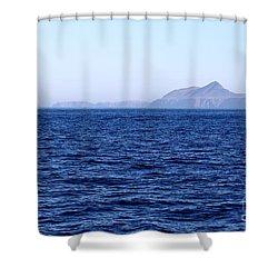 Anacapa Island Shower Curtain by Henrik Lehnerer