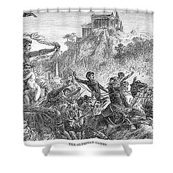 Ancient Olympic Games Shower Curtain by Granger