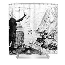 Andrew Jackson Cartoon Shower Curtain by Granger