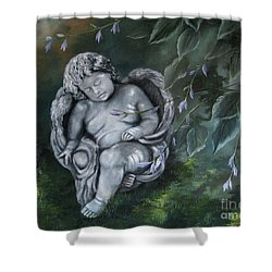 Angel In The Garden Shower Curtain