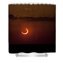 Annular Solar Eclipse Shower Curtain by Phillip Jones