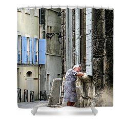 Shower Curtain featuring the photograph Another Nap.arles.france by Jennie Breeze