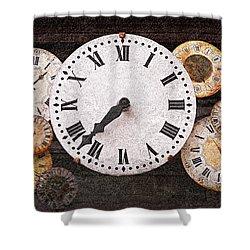 Antique Clocks Shower Curtain by Elena Elisseeva