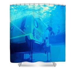 Aquarius Underwater Ocean Laboratory Shower Curtain by Science Source