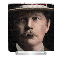 Arthur Conan Doyle, Scottish Author Shower Curtain by Science Source