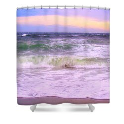 At The Seashore Shower Curtain by Marilyn Wilson