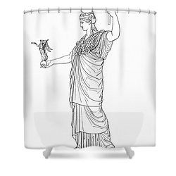 Athena, Greek Goddess Shower Curtain by Photo Researchers
