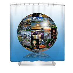 Attractions In Buffalo Ny And Surrounding Areas Shower Curtain by Michael Frank Jr