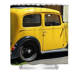 Austin Healey Seven 1937 Shower Curtain by Rene Triay Photography