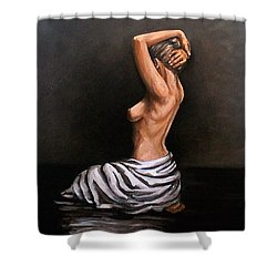 Back Nude Shower Curtain