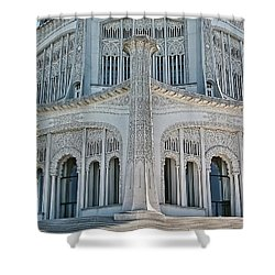 Bahai Temple Wilmette Shower Curtain by Rudy Umans