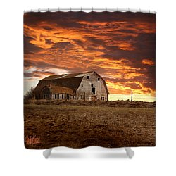 Barn On Highway 21 Shower Curtain