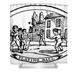 Baseball Game, 1820 Shower Curtain by Granger