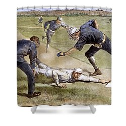 Baseball Game, 1885 Shower Curtain by Granger