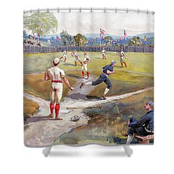 Baseball Game, C1887 Shower Curtain by Granger
