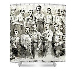 Baseball Teams, 1866 Shower Curtain by Granger