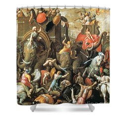 Battle Of Zama Hannibals Defeat Shower Curtain by Photo Researchers