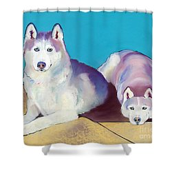 Best Buddies Shower Curtain by Pat Saunders-White