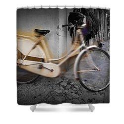 Bike Shower Curtain by Charles Stuart