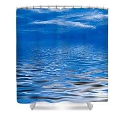 Blue Sky Shower Curtain by Kati Molin