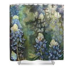 Bluebonnet Blessing Shower Curtain by Karen Kennedy Chatham